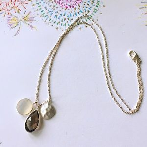 Jewelry - Sterling silver moon stone smoky quartz necklace